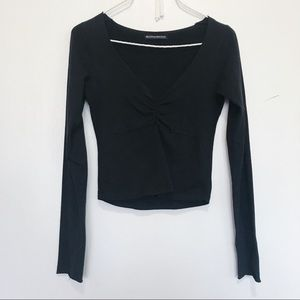 Brandy Melville long sleeve vneck gina shirt